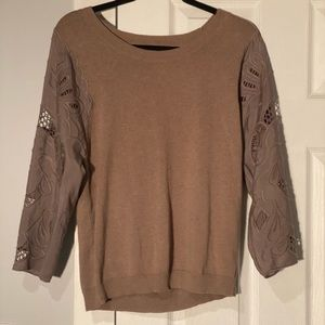 Anthropologie Knitted Knotted Brown Sweater